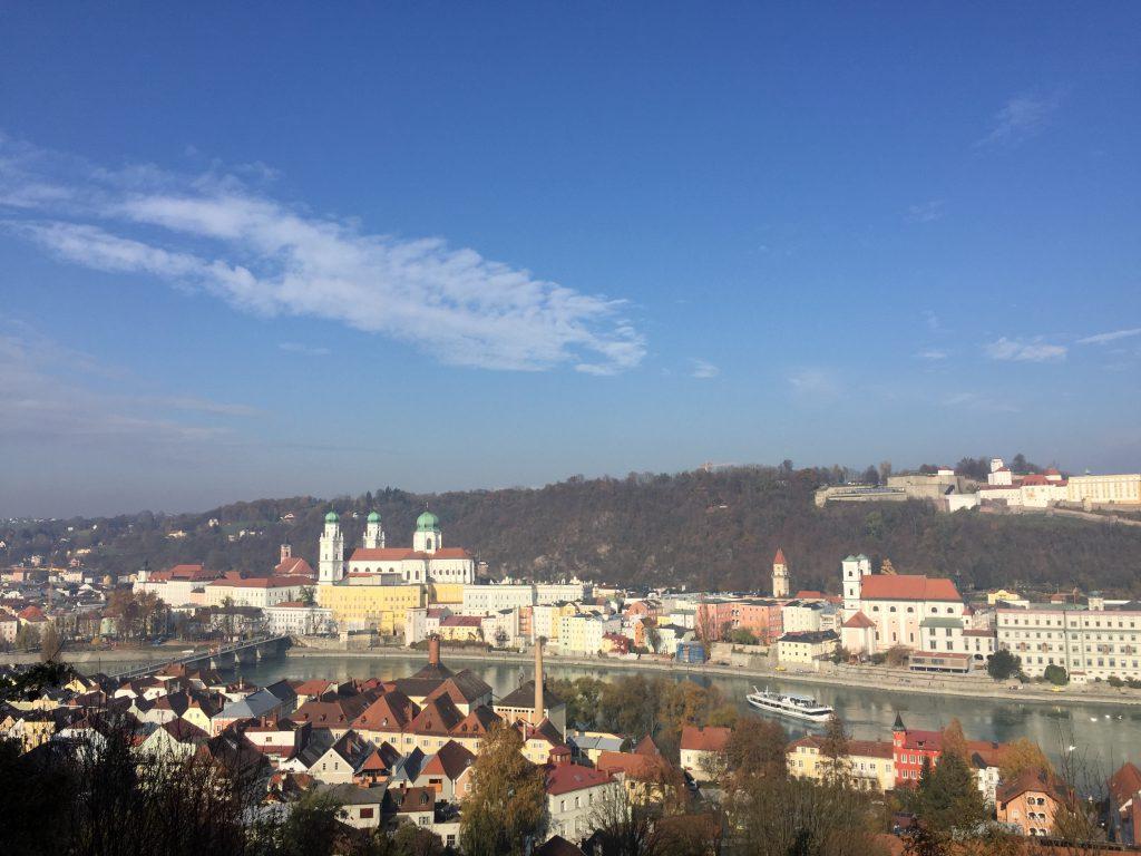 Passau-Ansicht von der Innstadt aus gesehen